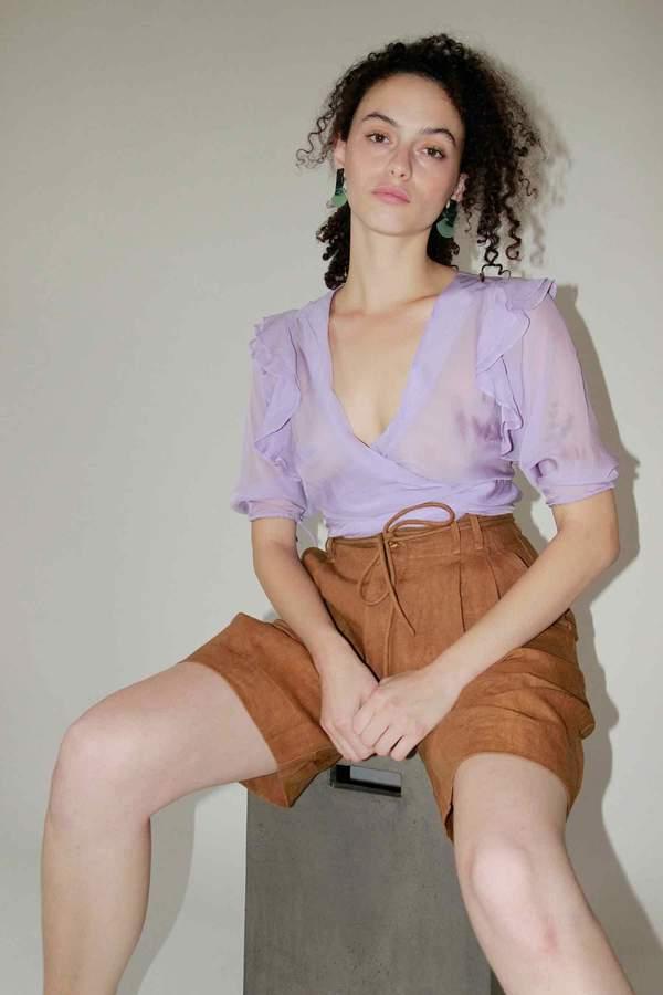 Ajaie Alaie Bamboleo Blouse - Lilac