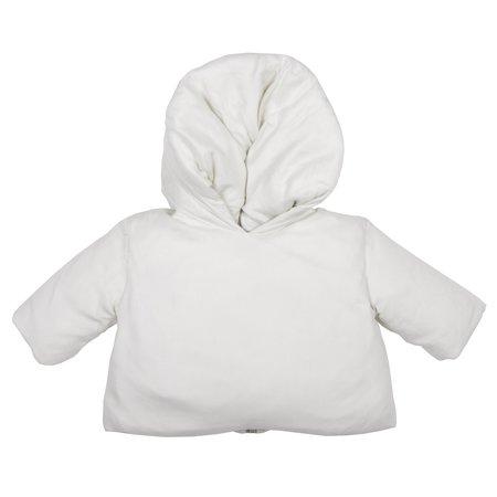 Kids Album di Famiglia Lino Coat With Zip Back - Rice Off-White
