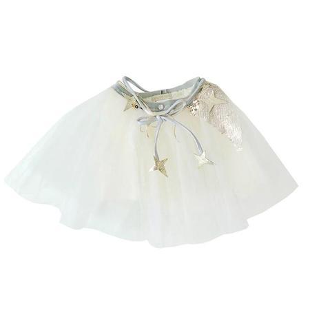Kids Atsuyo Et Akiko Miss Eye Tutu With Platinum Details - Ivory White