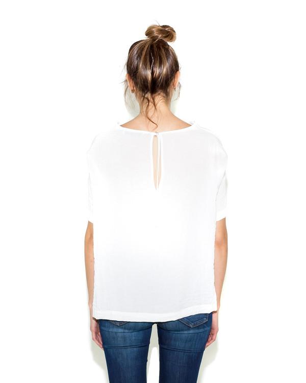 Shaina Mote Bateau Top In White