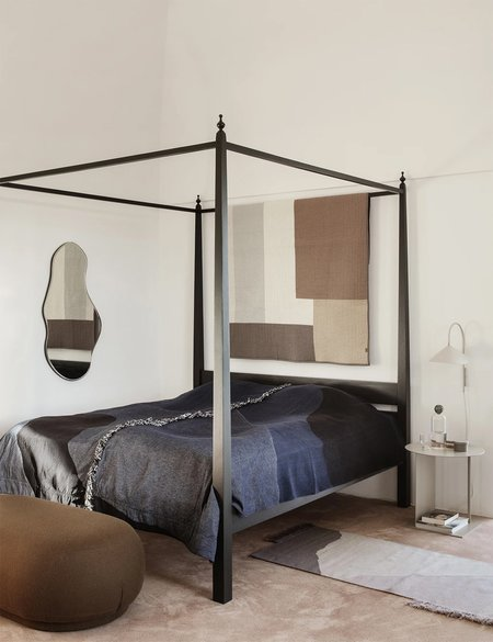 Ferm Living Shay Patchwork Quilt Blanket - Beige