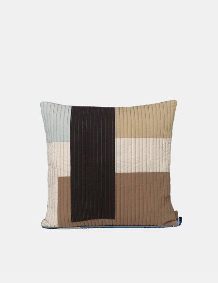 Ferm Living Shay Quilt Cushion - Tan