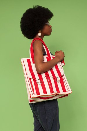 L.F.Markey Striped Beach Bag
