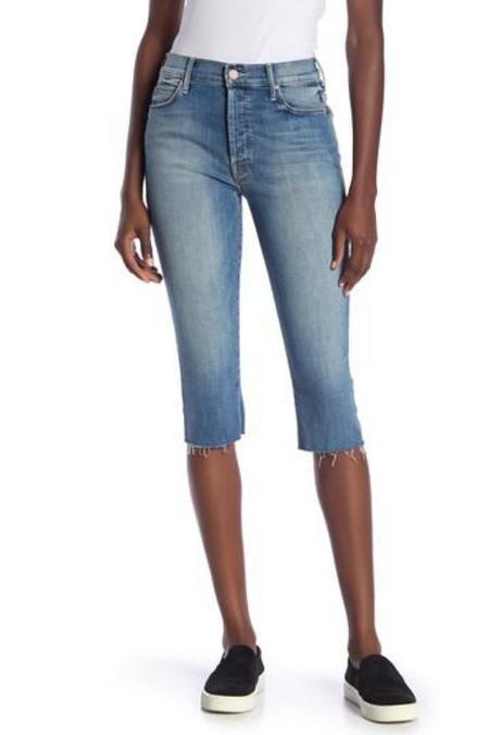 Mother Denim Stunner Capri Jeans - Vintage Blue