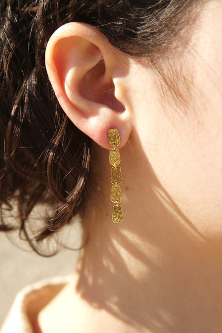 rosewood clothing co jewelry Hammered Dangle Stud