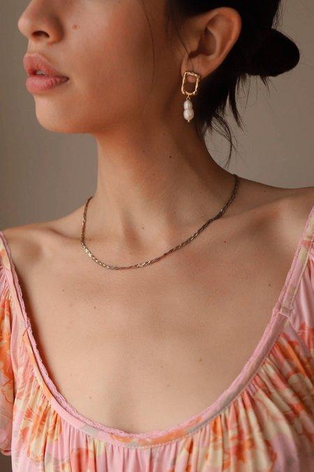 Mod + Jo Gabi Pearl Earrings - 18k gold plate over brass