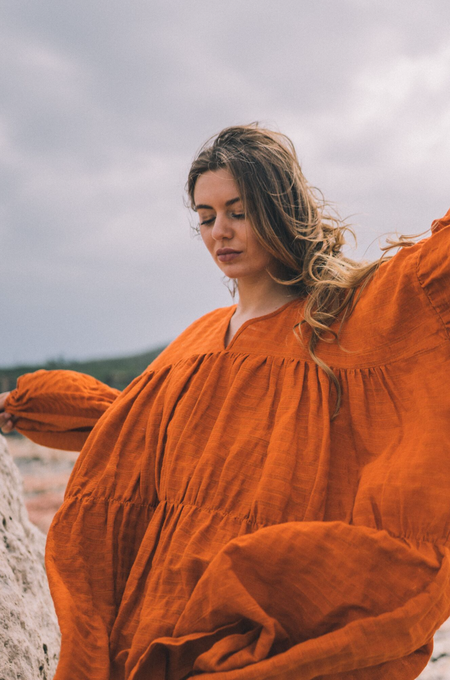 A Perfect Nomad Symi Dress - Deep Burnt Orange