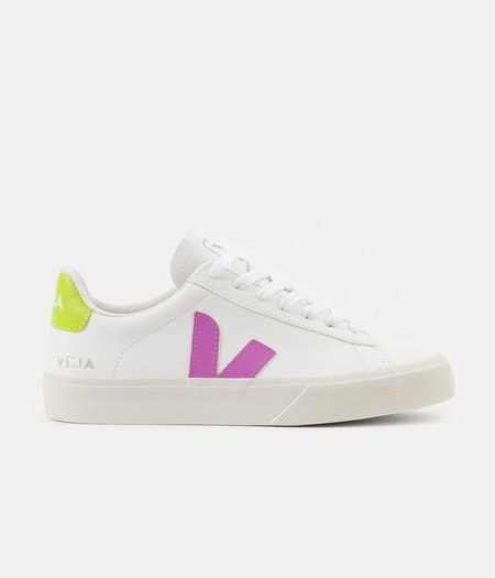 VEJA Campo Jaune Fluo Sneaker - Extra White/Ultraviolet