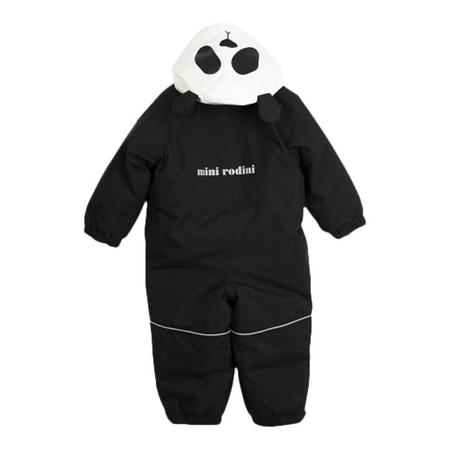Kids Mini Rodini Alaska Panda Snowsuit - Black/White