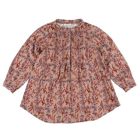 Kids Morley Cybil Long Sleeved Dress - Ikat Brick Red