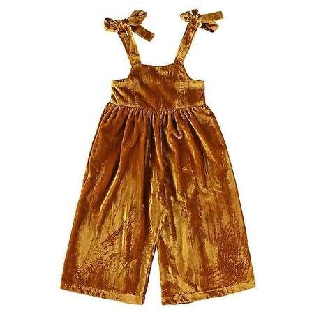 Kids Morley Kactus Overalls - Velvet Caramel Brown