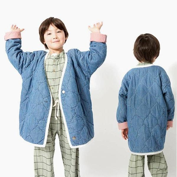 Kids Nico Nico Nima Quilted Jacket - Denim Blue