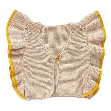 Kids Oeuf NYC Vest With Ruffled Sleeves - Beige