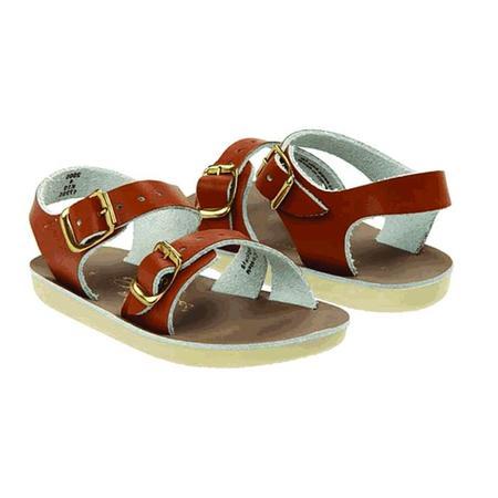 Kids Saltwater Surfer Sandals - Tan Brown