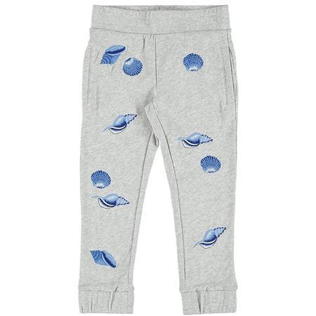 Kids Stella McCartney Niamh Seashell Printed Sweatpants - Grey