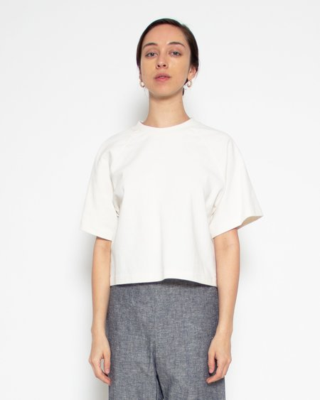 Elise Ballegeer Melody Hemp Organic Cotton Crop Tee - Natural