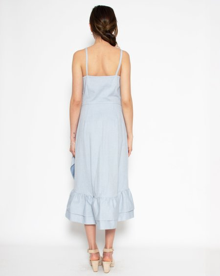 Elise Ballegeer Narella  Organic Cotton Twill Dress - Sky