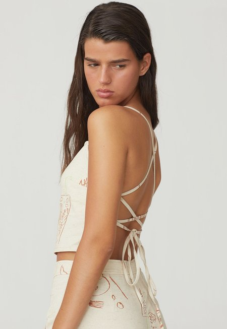 Paloma Wool Ok Top - Off White/Casa Print