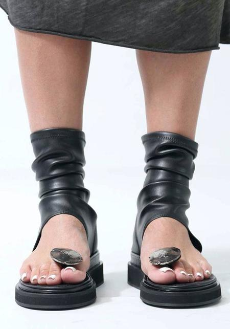NostraSantissima Stretch Ankle Sleeve Sandal - black