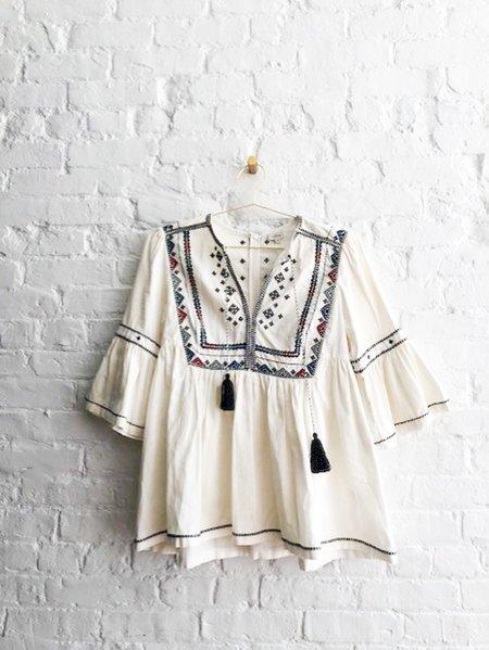 [pre-loved] Talitha Embroidered Blouse - White