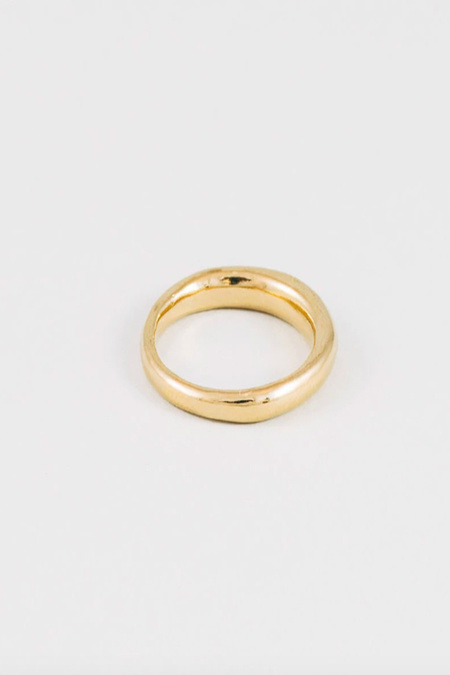 Wolf Circus Emeile Round Band Ring - 14K Gold Plated