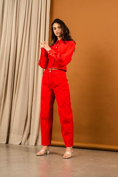 Penny Sage Hector Trouser - Poppy Corduroy