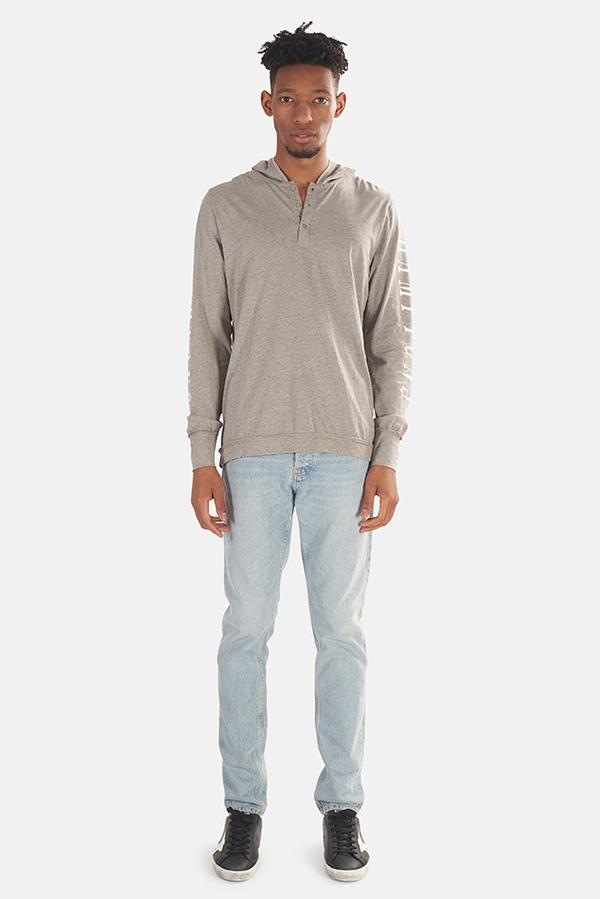 Blue&Cream Towns Hoodie Sweater - Grey