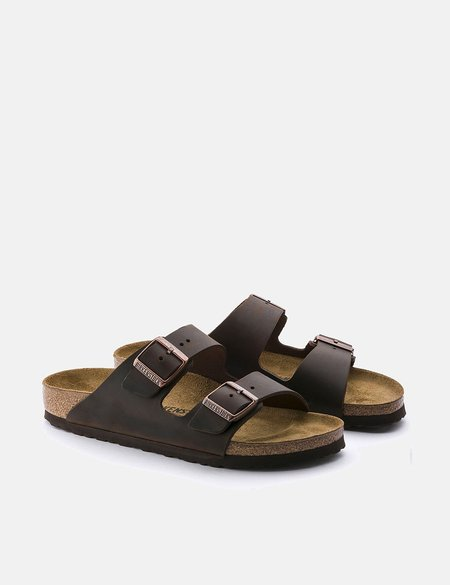 Birkenstock Arizona Oiled Leather Sandals Regular - Habana