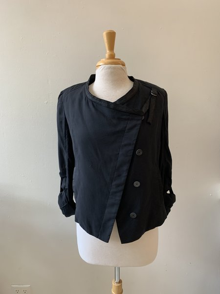 [pre-loved] Helmut Lang Button Front Jacket - Black