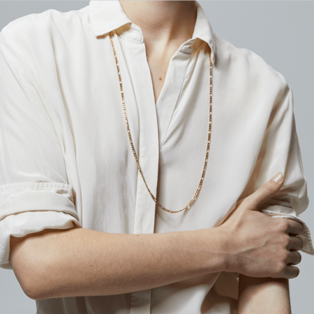 Jenny Bird Seychelles Wrap Necklace - HIGH POLISH GOLD