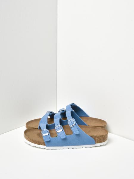 Birkenstock Florida Fresh Vegan Birkibuc Sandals - Dove Blue