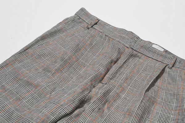 Delikatessen Italian Linen Check Trousers