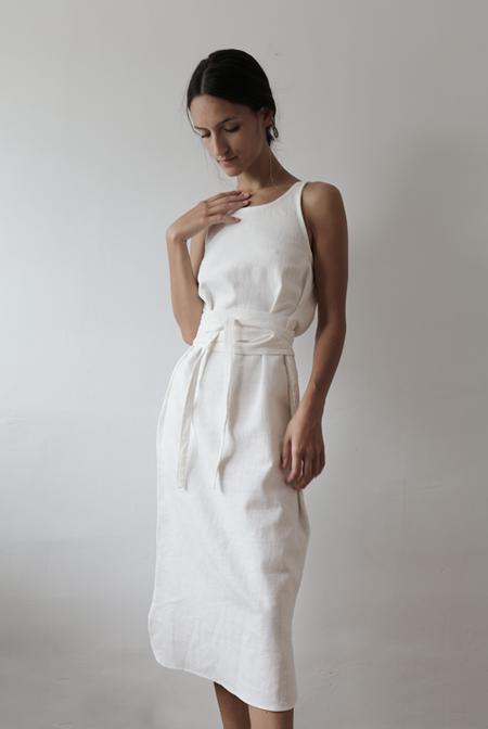 Worker's Nobility Teresa Dress - white
