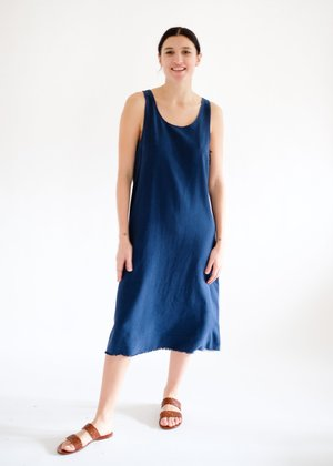 Lacausa Reversible Silk Dress - Sapphire