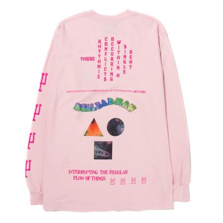 Real Bad Man Conflict Long Sleeve T shirt - Pink