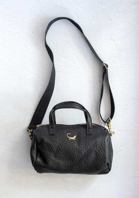 SOUS LES PAVES Petite Crocodile Caipirhina Bag - Black