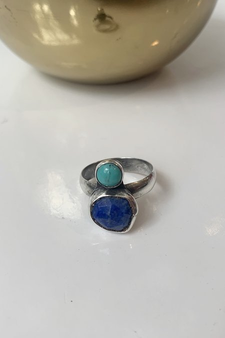 Christina Nicole Stak Lapis and Turquoise Ring - Sterling Silver