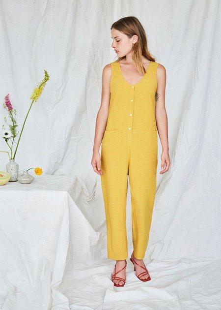 Eve Gravel Saint germain jumpsuit - mustard