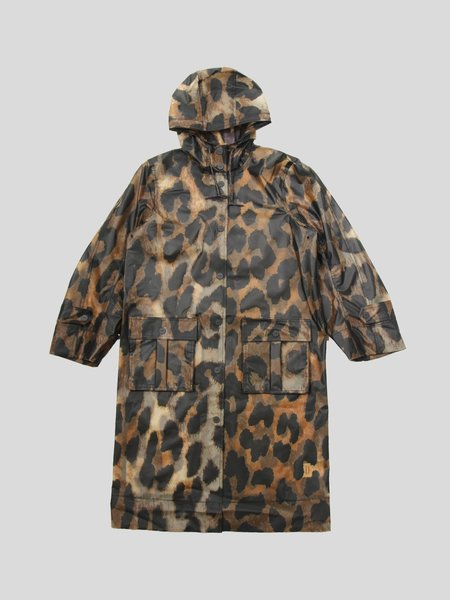 Ganni Thermoshell Jacket - Maxi Leopard
