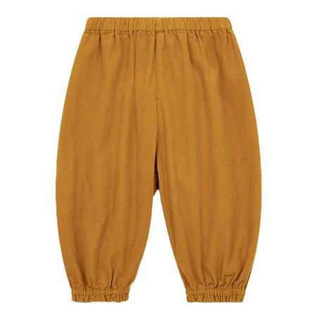 Kids Bonton Velour Pants - Amber Yellow