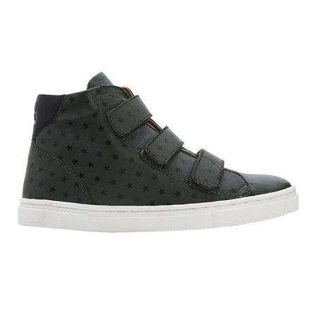 Kids Bonton Leather High Top Sneakers - Khaki Green