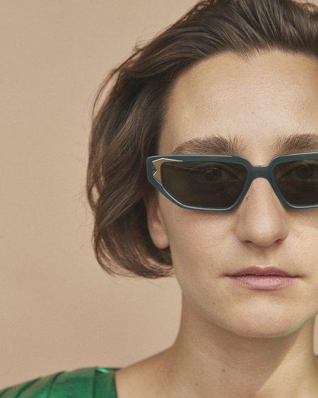 CARLA COLOUR Flame Sunglasses - Moss