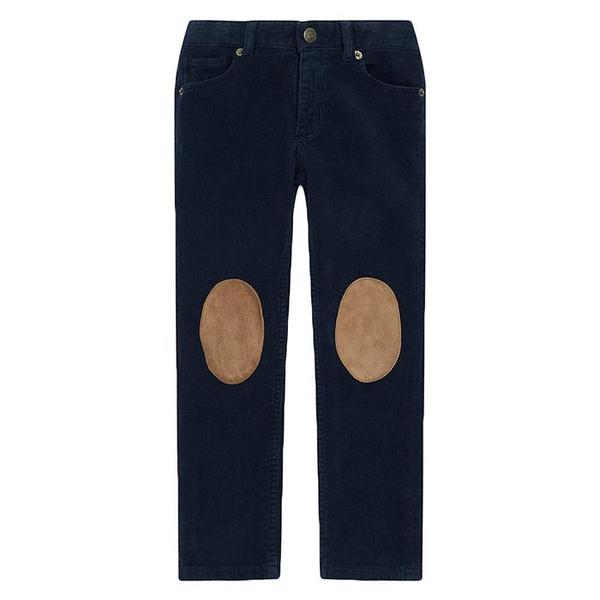Kids Bonton Sean Velour Pants - Navy Blue