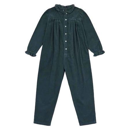 Kids Bonton Child Soleil Velour Jumpsuit - Tarmac Grey