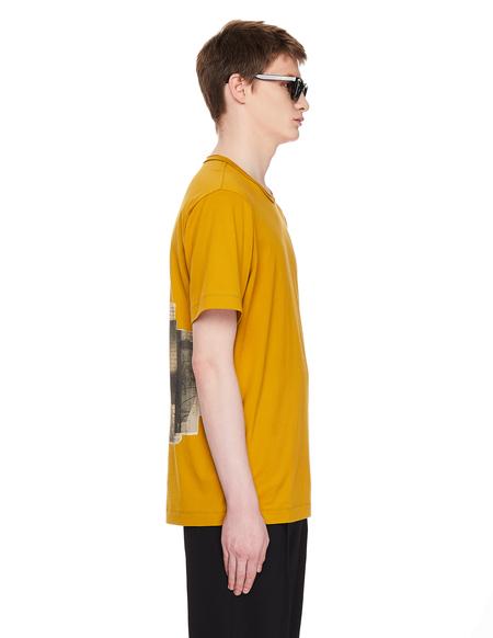 Ziggy Chen Printed Cotton T-Shirt - Beige
