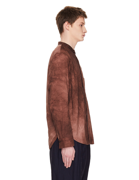Ziggy Chen Cotton Shirt - Burgundy Washed