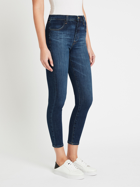 J Brand Alana High Rise Crop Skinny Jean - Arcade