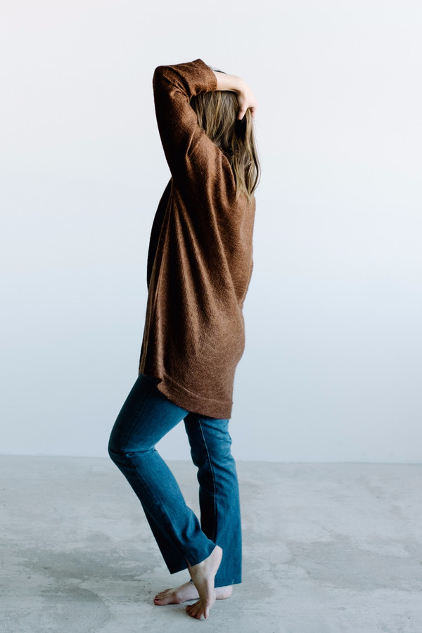 Hackwith Design House V-Neck Pullover // Rust