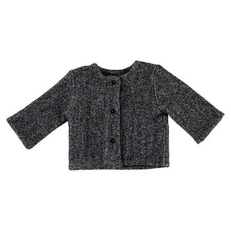 Kids Pequeno Tocon Spike Crinkled Wool Jacket - Dark Grey