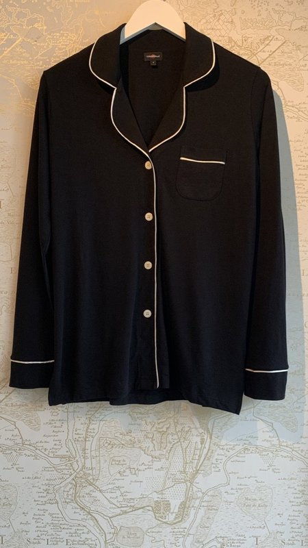 Cosabella Long Sleeve Top & Pant Pyjama Set - Black